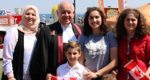 Canada 150 citizenship reaffirmation ceremony Spencer Smith Park at the Sound of Music Festival Burlington