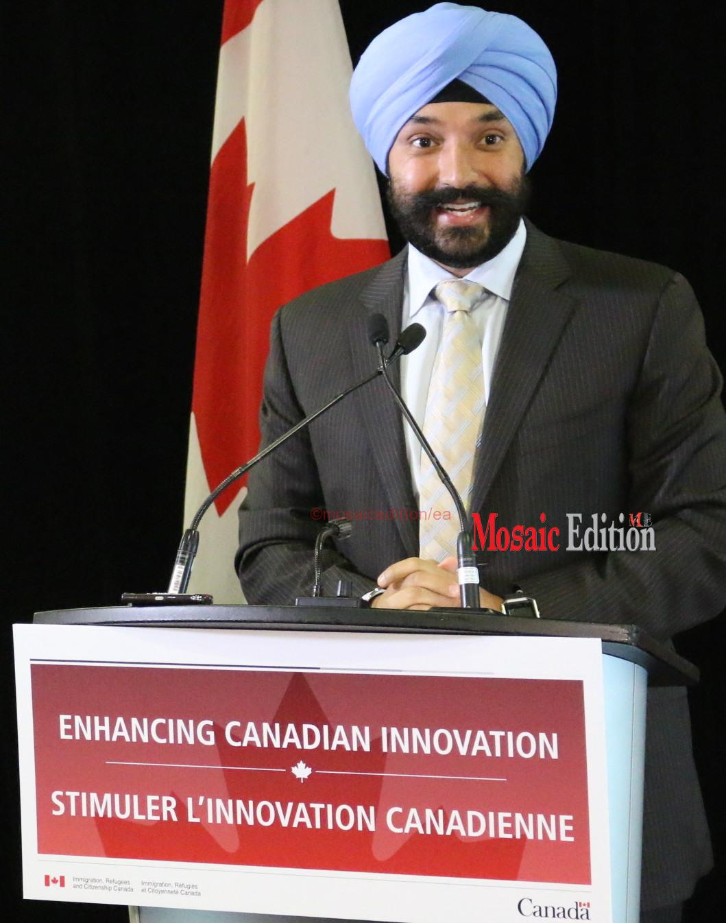Navdeep Bains - Minister of Innovation, Science and Economic Development Canada. mosaicedition.ca-ea