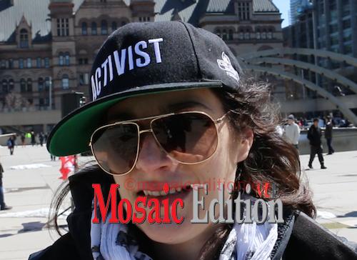 Activist Katherine Perry - Screen Shot video - mosaicedition.ca-ea