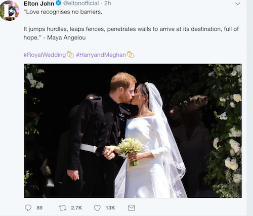Just Married: Introducing The Duke and Duchess of Sussex - Kensington Palace twitter.
