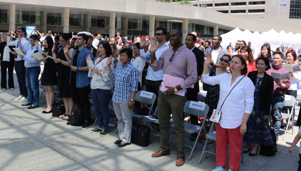 Toronto Newcomer Day - Citizenship Ceremony at Nathan Phillips Square - mosaicedition.ca-ea