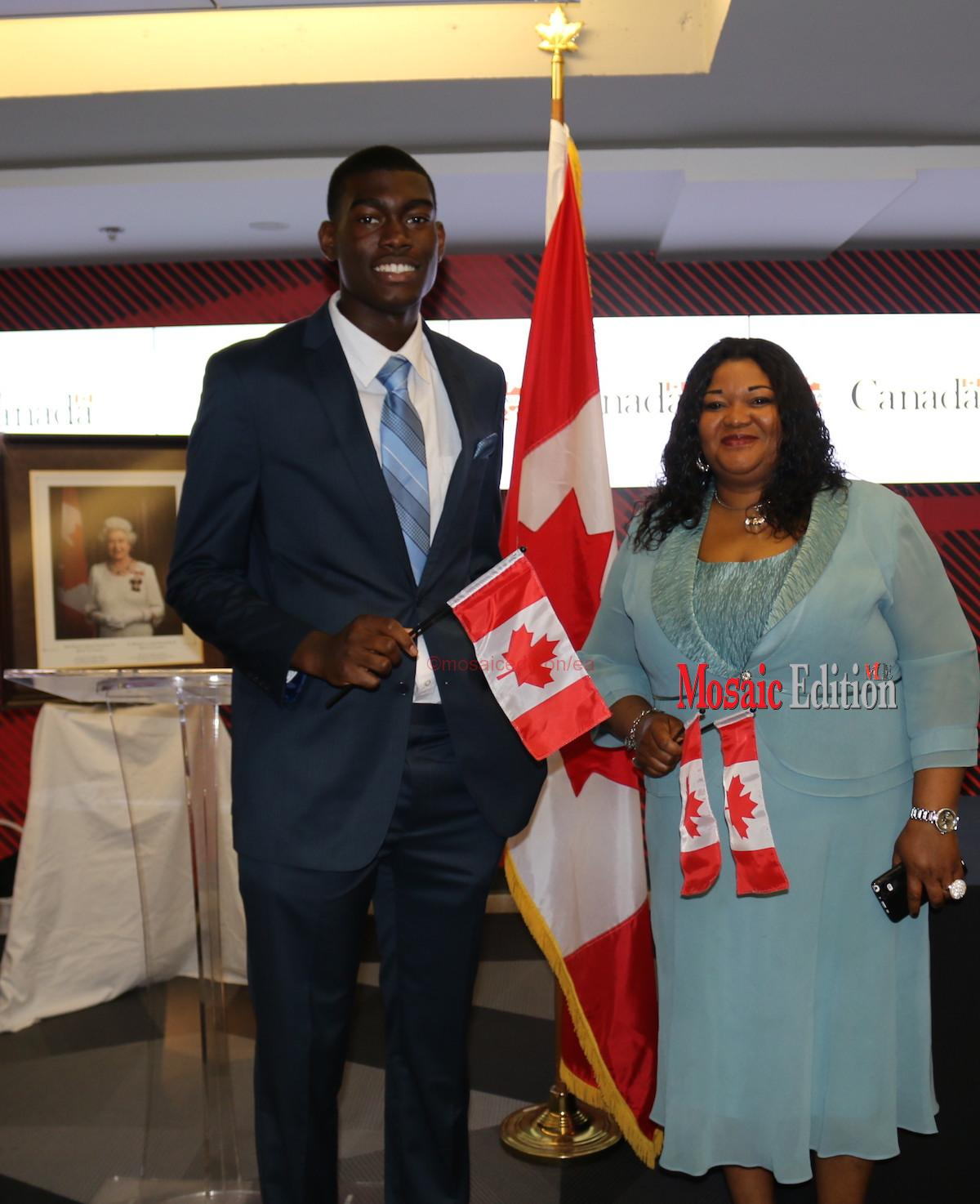 Endurance-Osaghae-and-Hope-Osaghae-after-swearing-oath-of-citizenship-at-BMO-Field.