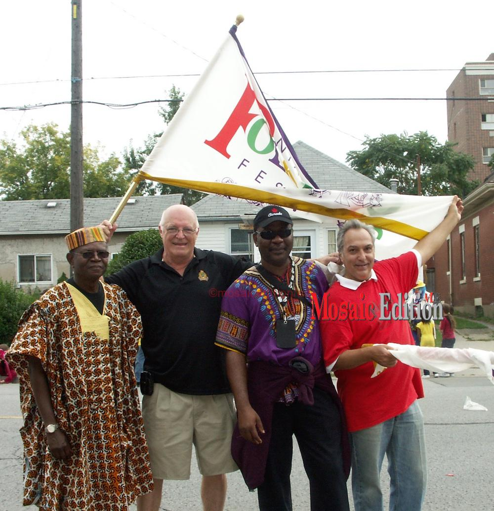 Dan-Frye-Mike-Collins-Edward-Akinwunmi-and-Sal-Sorento-at-the-Grape-and-Wine-Festival-