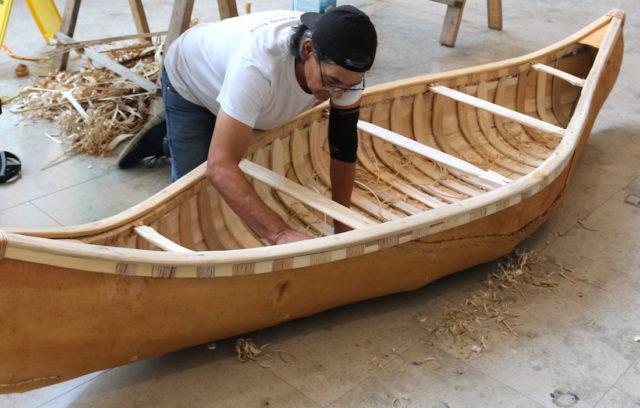 Chuck Commanda builds the Birch Bark Canoe – Indigenous symbol of reconciliation.