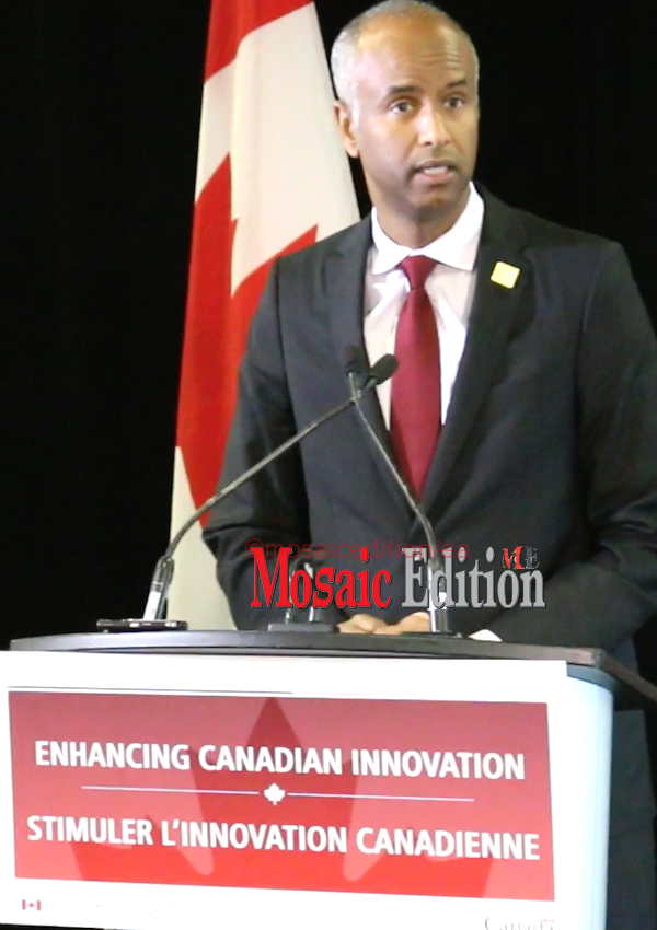 Ahmed Hussen, Minister of Immigration, Refugees and Citizenship - speaking on Start-Up Visa Program. mosaicedition.ca-ea
