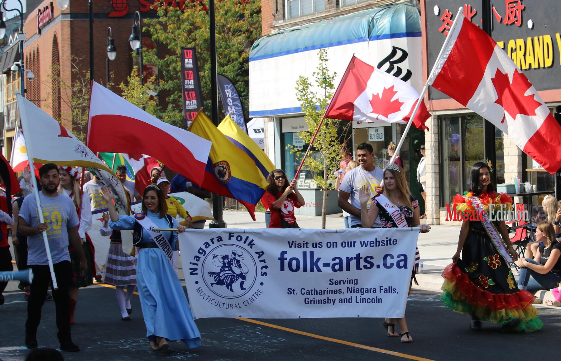 Niagara Grape & Wine Festival Meridian Grande Parade - Niagara Folk Arts. mosaicedition.ca-ea
